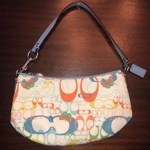 Coach convertible multicolored purse-wristlet